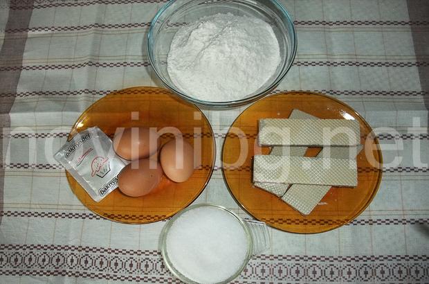 Кекс със вафли - продукти