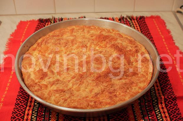 Баница с ориз - готова