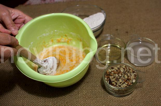 Кекс с тиква и канела - брашно