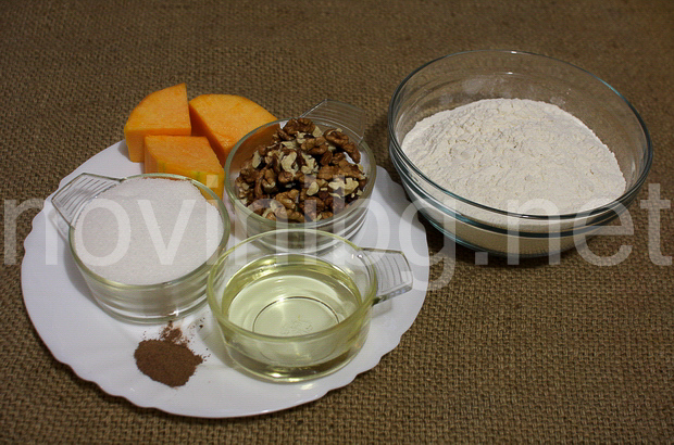 Кекс с тиква и канела - продукти