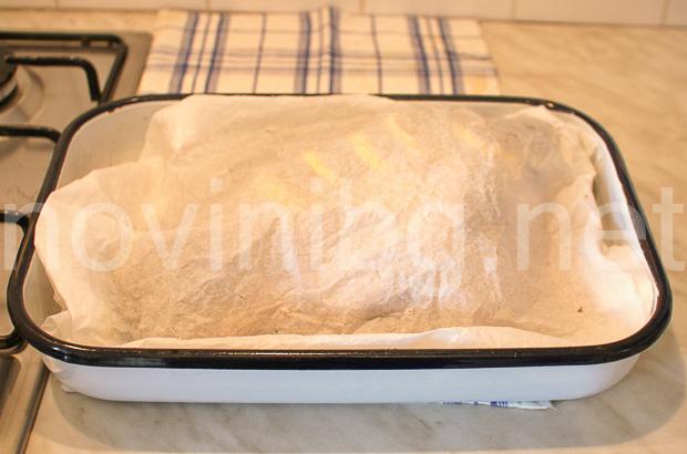 Пълнен шаран - завит с хартия за печене