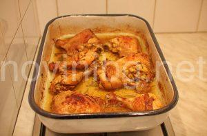 Пикантни пилешки бутчета - бутчетата са готови