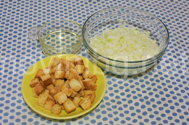 Мусака с хляб - нарязания и препечен хляб