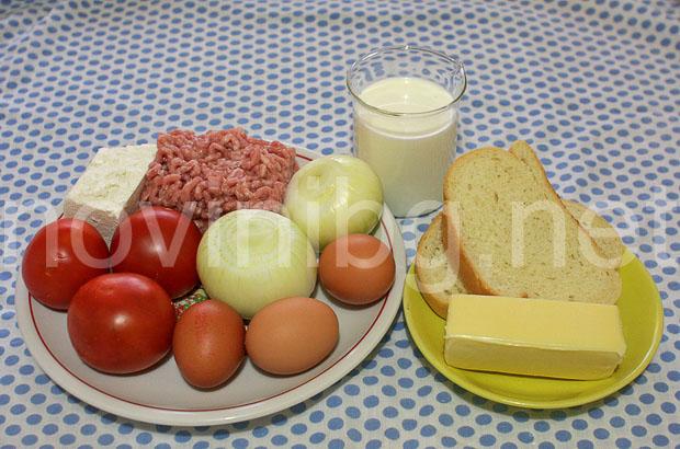 Мусака с хляб - продукти