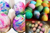боядисване на яйца за Великден
