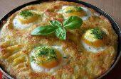 картофи и яйца