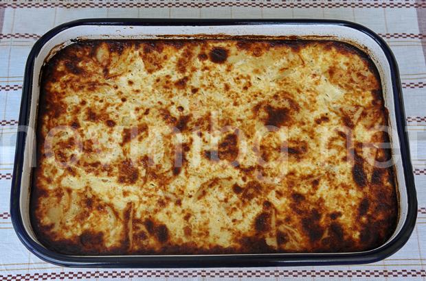 Картофи по савойски - готови в тавата