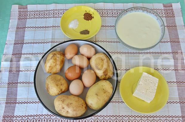 Картофи по савойски - продукти