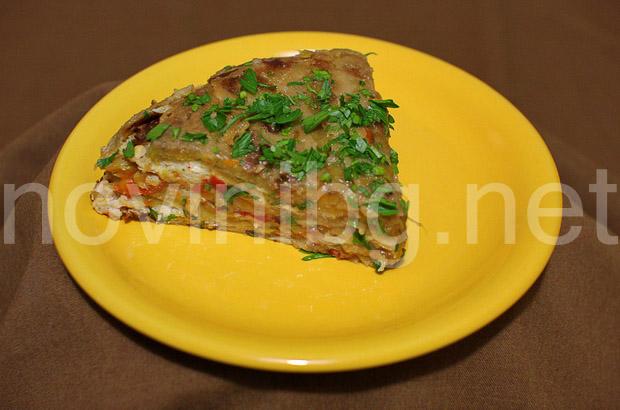 Обърната солена торта от чушки - добър апетит