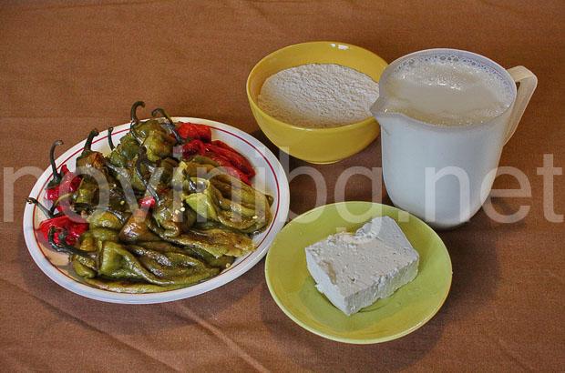 Ястие с чушки и млечен сос - продукти