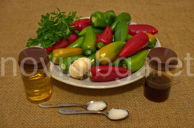 Пържени чушки върхари - продукти