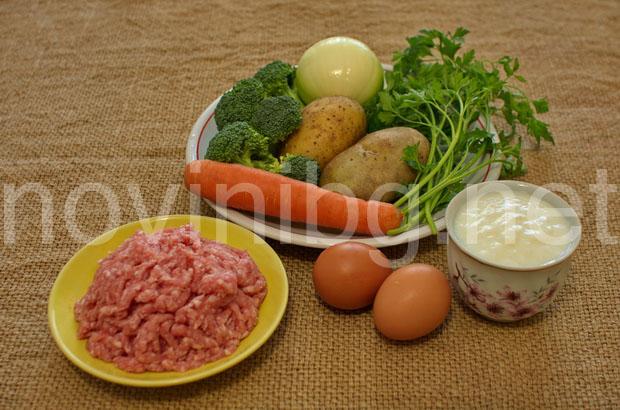 Мусака с кайма и броколи - продукти