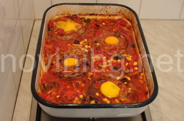 Карначета - чукване на яйцата