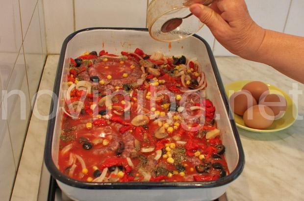 Карначета - подготвяне за печене