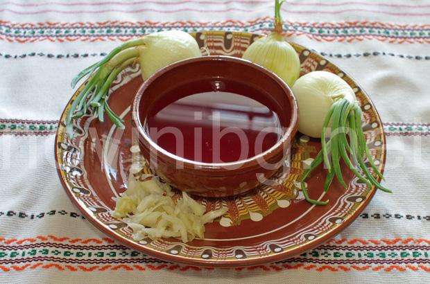 Разядка с лук и зелев сок - продукти