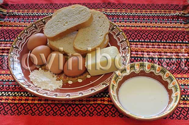 Рецепта за закуска с яйца - продукти