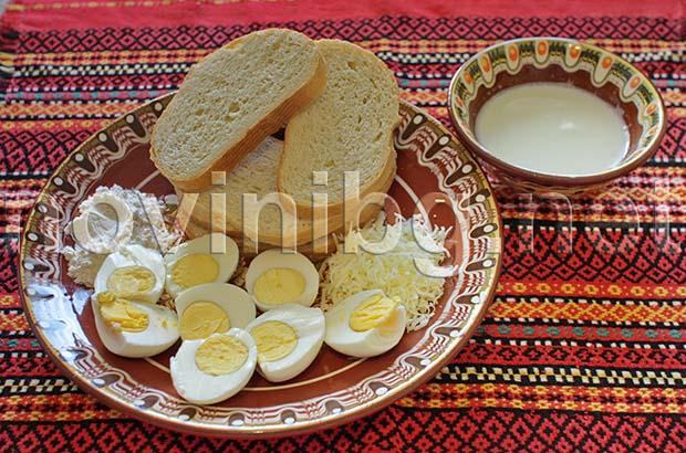 Рецепта за закуска с яйца - яйцата са обелени