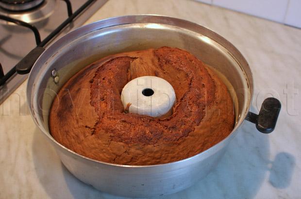 Какаовият кекс е изпечен